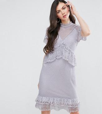 Y.A.S Tall Y.A.S Studio Tall Lace Ruffle Midi Dress