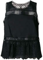 Ermanno Scervino open embroidery shell top