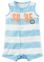 Carter's Striped Surf Cotton Romper, Baby Boys (0-24 Months)