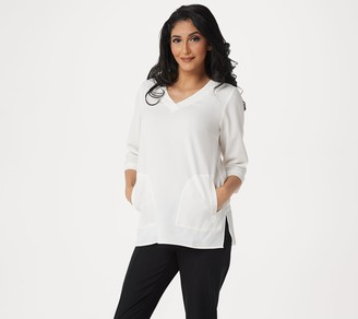 Linea by Louis Dell'Olio Gauze Crepe V-Neck Tunic