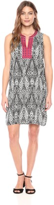 Tribal Women's Contrast Trim Sleeveless Dress