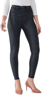 DL1961 Premium Denim Chrissy Coated Ankle Ultra High Rise Skinny Jeans