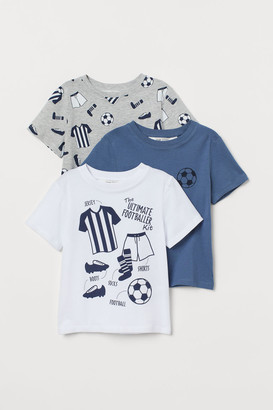 H&M 3-pack cotton T-shirts