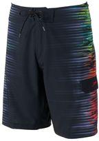 Speedo Men's Interference Glow Striped 4-Way Stretch Board Shorts
