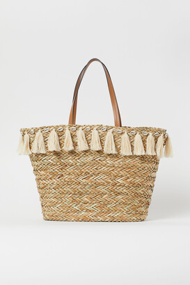 H&M Tasseled Straw Shopper