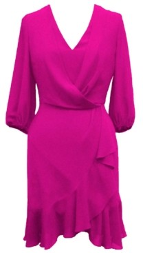 Taylor Petite Chiffon A-Line Dress