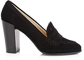 Tod's Women's Suede Block Heel Pumps