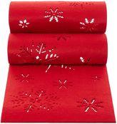 Linea Happy Holidays Red Felt Table Runner