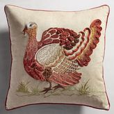 Pier 1 Imports Harvest Embroidered Traditional Turkey Pillow