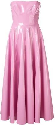Alex Perry Powell vinyl-effect dress