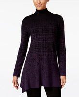 Style&Co. Style & Co. Jacquard Mock-Neck Tunic Sweater, Only at Macy's