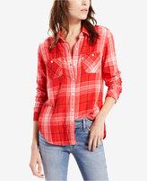 Levi's Good Workwear Cotton Plaid Boyfriend Shirt