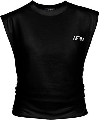 AFRM Billie Side Ruched Crop Tank