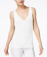 Bar III V-Neck Sweater Shell, Created for Macy's