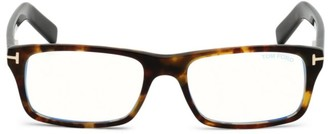 Tom Ford 55MM Square Blue Block Optical Glasses