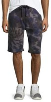 True Religion Spiral Tie-Dye Sweat Shorts, Indigo