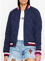 Tommy Hilfiger Blake Stretch Down Quilted Bomber Jacket