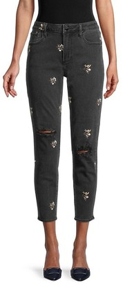 Driftwood Gizelle Floral Embroidered Jeans