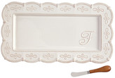 Mud Pie Initial Hostess Tray 2-Piece Set - F