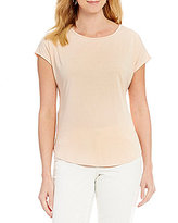 Bobeau Petites Solid Crew Neck Solid Tee