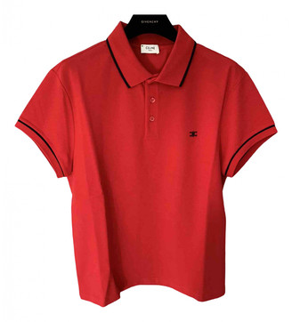 Celine Red Cotton Polo shirts