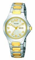 Pulsar Women's PXU037 Functional Two-Tone Dial Day Date Watch