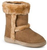 Journee Collection Girls' Chuckie Faux Fur Trim Fashion Boots - Assorted Colors