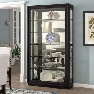 Albrightsville Lighted Curio Cabinet Darby Home Co