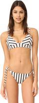 Tori Praver Swimwear Sunday Stripe Daniela Triangle Top