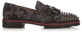 Christian Louboutin Rossini Camouflage-print Felt Loafers