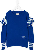 Bobo Choses frilled detail jumper