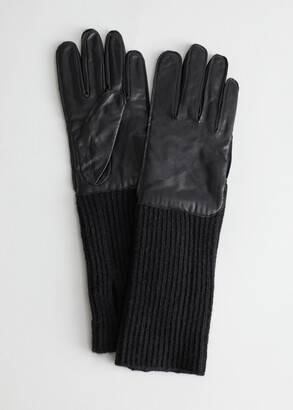 And other stories Leather Long Cuff Gloves
