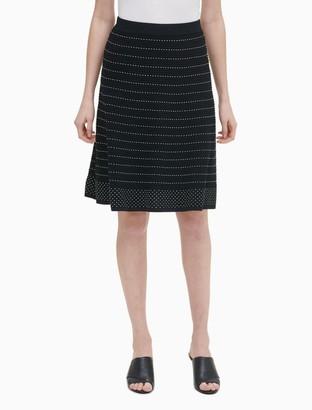Calvin Klein Dotted Stripe Textured Pencil Skirt