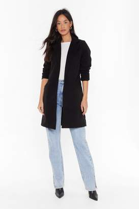 Nasty Gal Womens Under Cover Longline Coat - black - XL