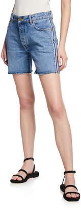 Victoria Victoria Beckham Mid-Thigh Worn Denim Shorts
