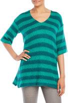 Alysi V-Neck Striped Sweater
