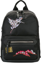 Lanvin embroidered bird backpack - men - Calf Leather/Acrylic/Polyamide/Polyester - One Size
