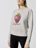 Monogram Strawberry With Rhinestones