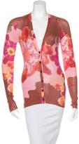 M Missoni Printed Long Sleeve Cardigan