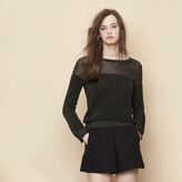 Maje Ottoman stitch pullover with lurex