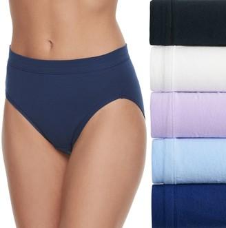 Fruit of the Loom Women's Signature 5-pack Cotton-Blend Stretch Hi Cut Panty 5DCSSHC