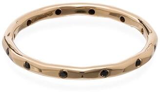 Melissa Joy Manning 14kt yellow gold black diamond ring