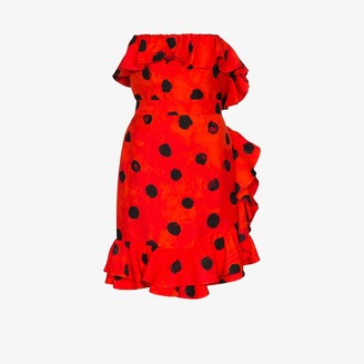 Moschino Polka Dot Ruffle Mini Dress