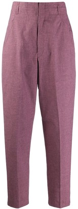Etoile Isabel Marant high waisted Loulia checked trousers