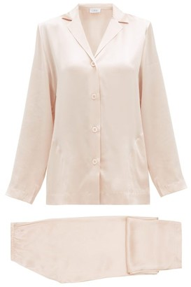La Perla Silk-charmeuse Pyjamas - Womens - Light Pink