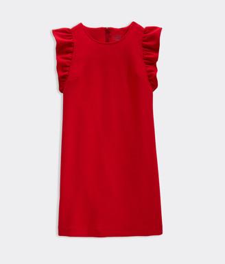 Vineyard Vines Girls' Ponte Flutter Sleeve Dress