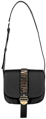 Moschino Leather Logo Shoulder Bag
