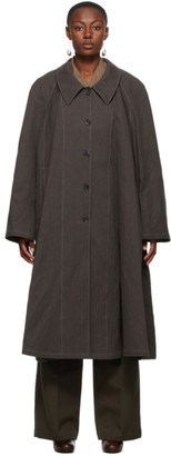 Lemaire Taupe Canvas Overcoat