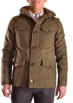 Peuterey Men's Green Wool Coat.