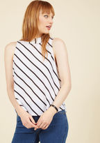 ModCloth Edgy Assuredness Sleeveless Top in M